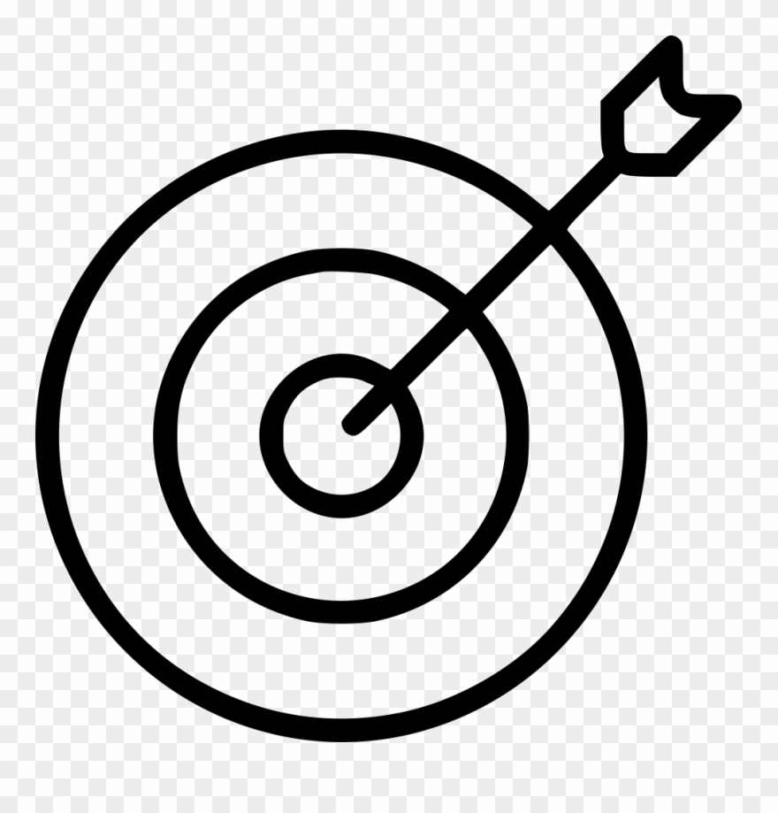 Archery Bull Eye Dart Board Arrow Svg.
