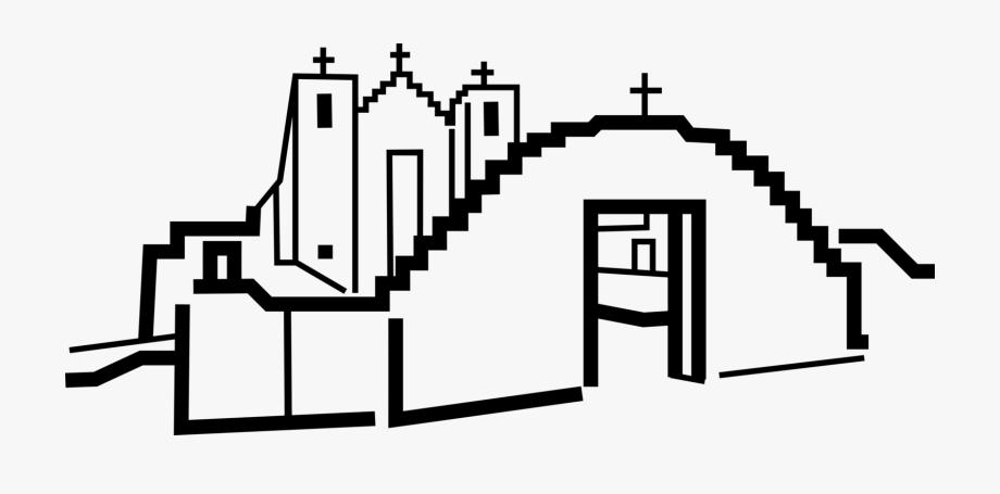 Vector Illustration Of Old Mission Of St.