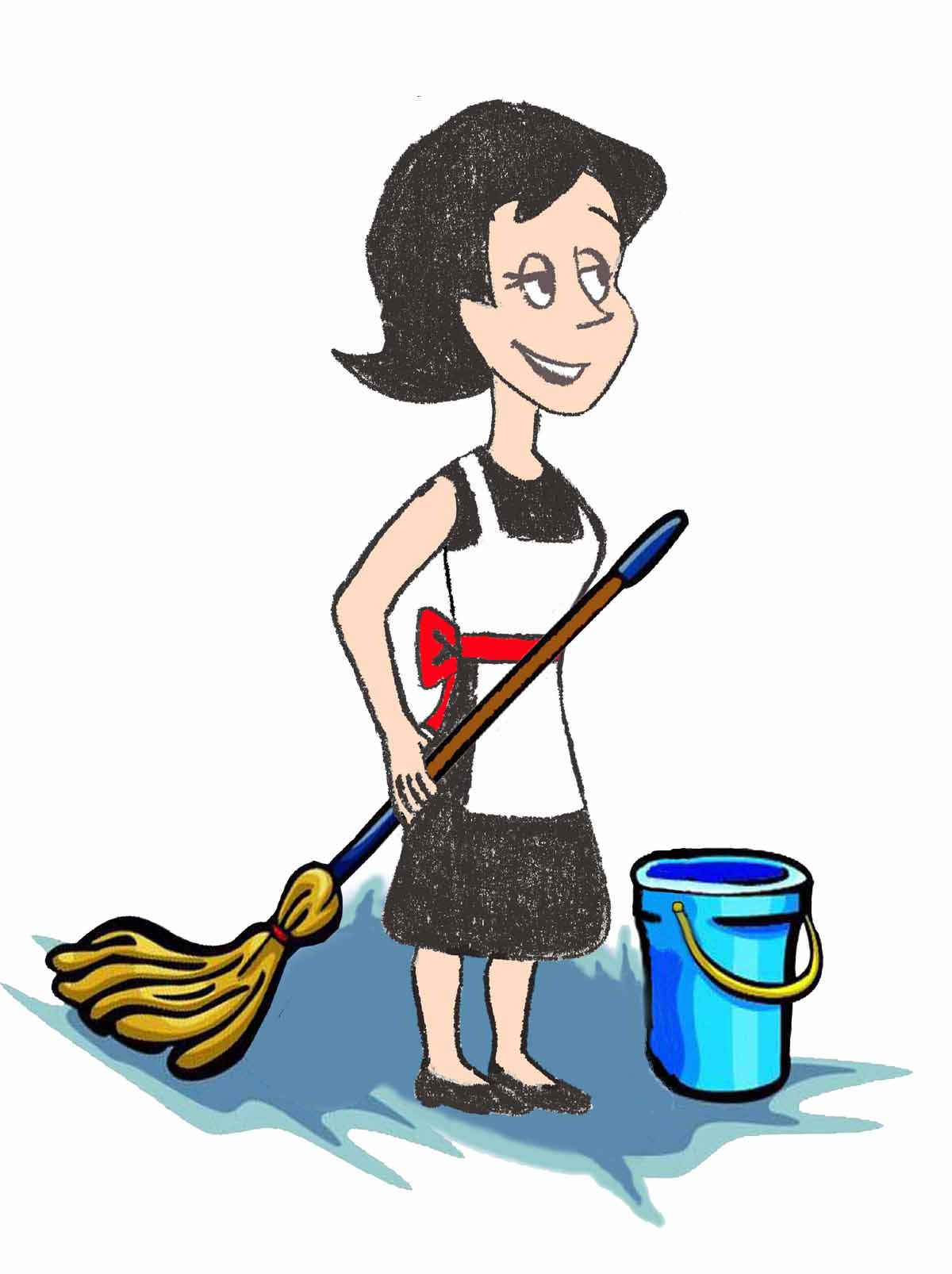 Clip Art Mom Cleaning Clipart.