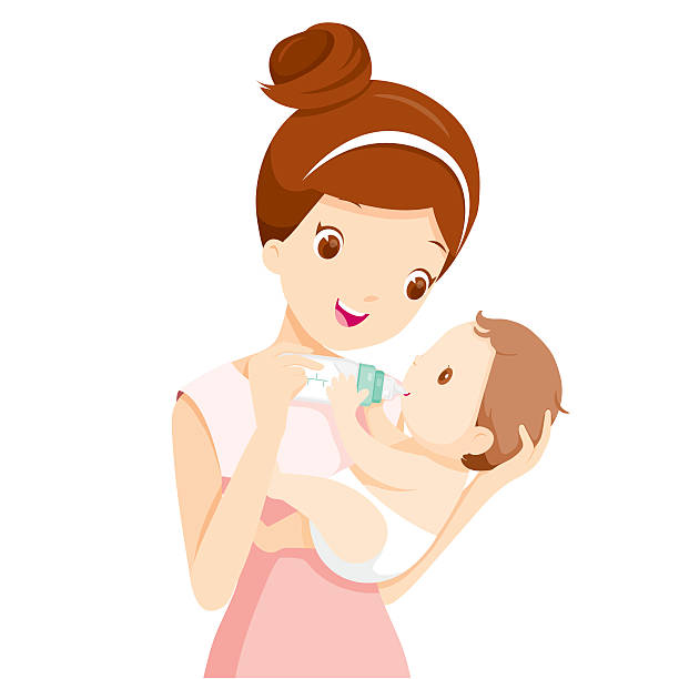 Mom With Baby Clipart.