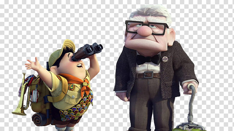 Up Movie, Up movie characters illustration transparent.
