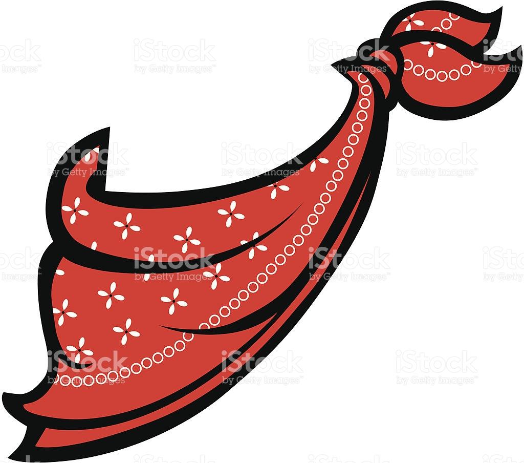 Red Bandanna Or Handkerchief stock vector art 136509363.
