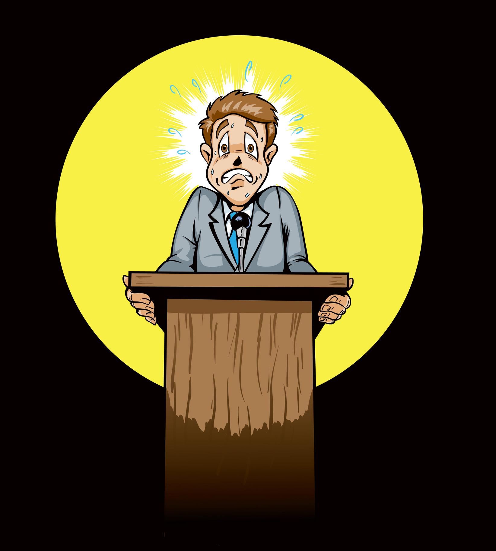 Nervous clipart presentation, Nervous presentation.
