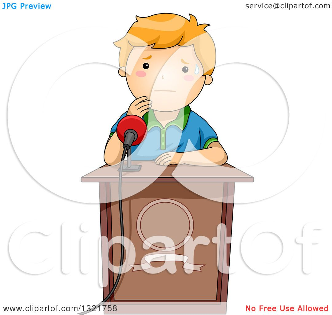 Nervous Speech Clipart.