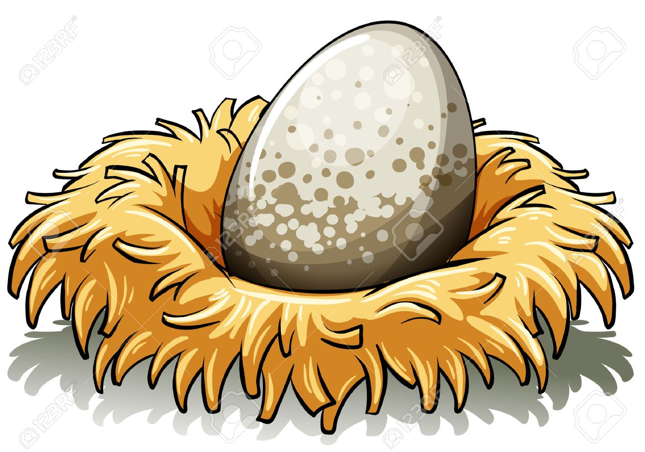 Egg In Nest Clipart.