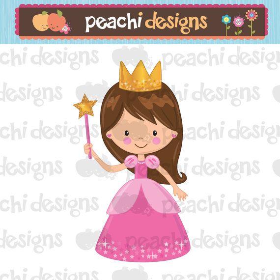 Cute Little Princess Clipart Printable by peachidesigns on.