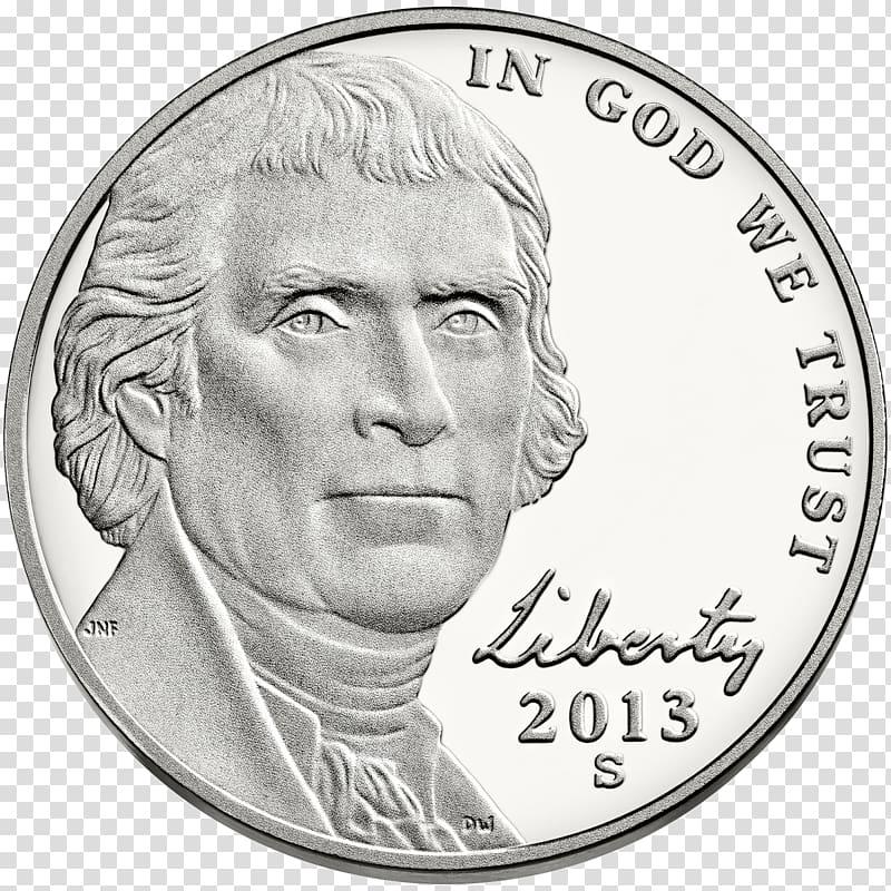 Philadelphia Mint Monticello Jefferson nickel Coin, Coin.