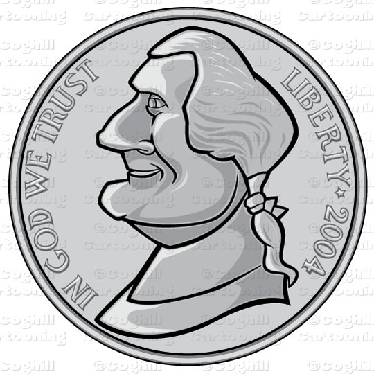 Nickel Coin Clipart.