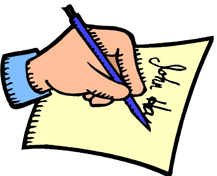 Writing A Note Clipart.