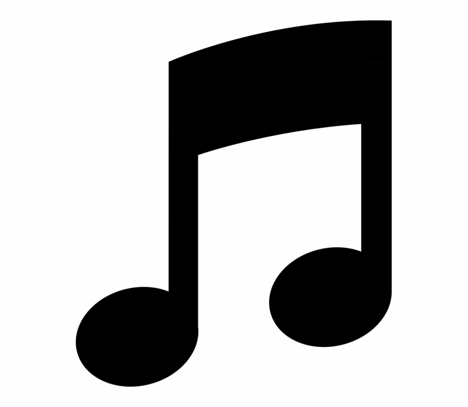 Note Music Symbol Eighth Black Sound Pictogram.