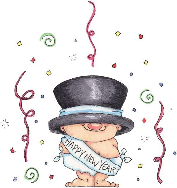 Dibujos Clipart Gratis Feliz Ano Nuevo.