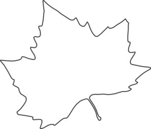 Leaf Outline Clip Art at Clker.com.