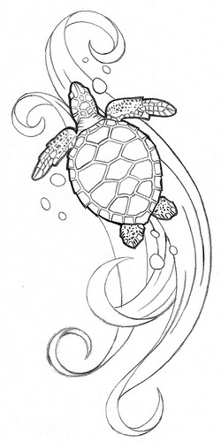 Would be a sweet tattoo. I think ill do water behind my turtle.