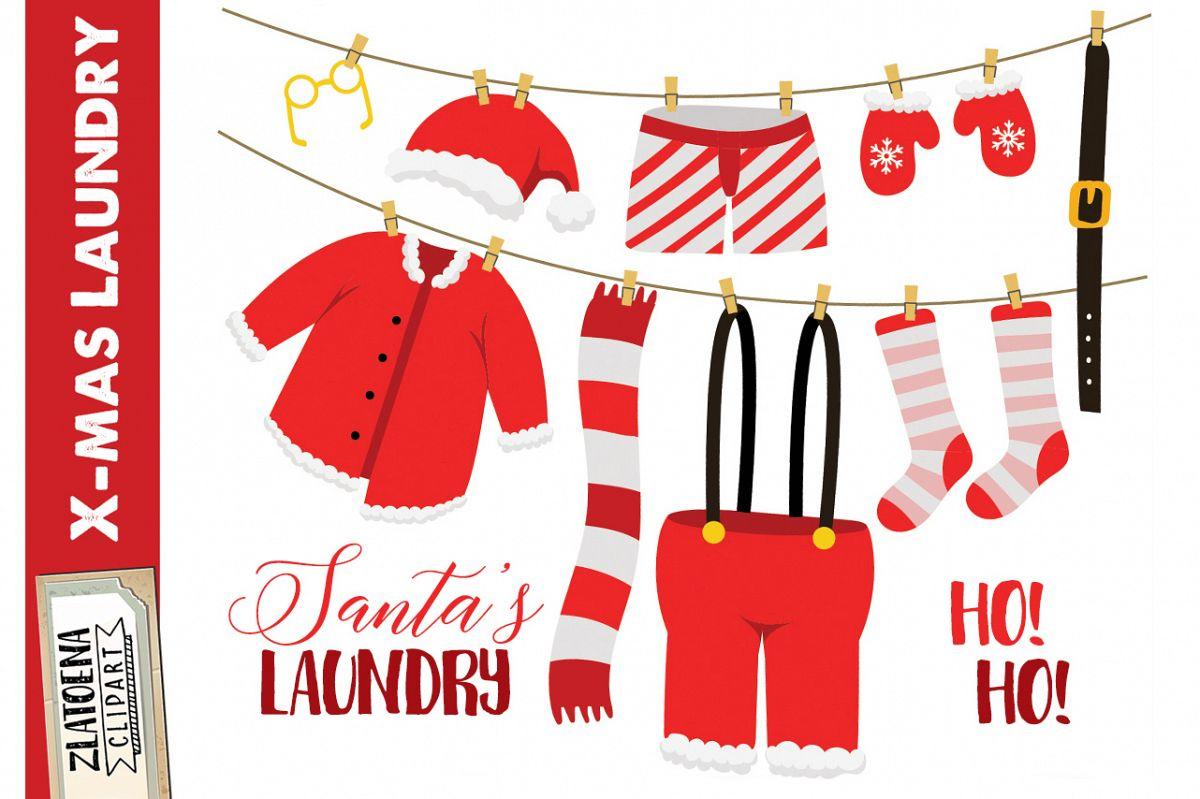 Santas Laundry Clip Art clip art Christmas Clipart Holiday.