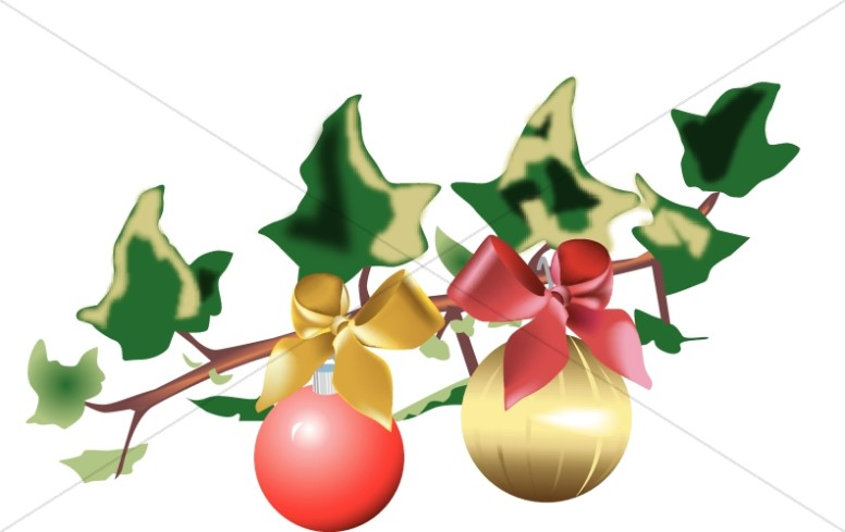 Pair of Ornaments on Ivy.
