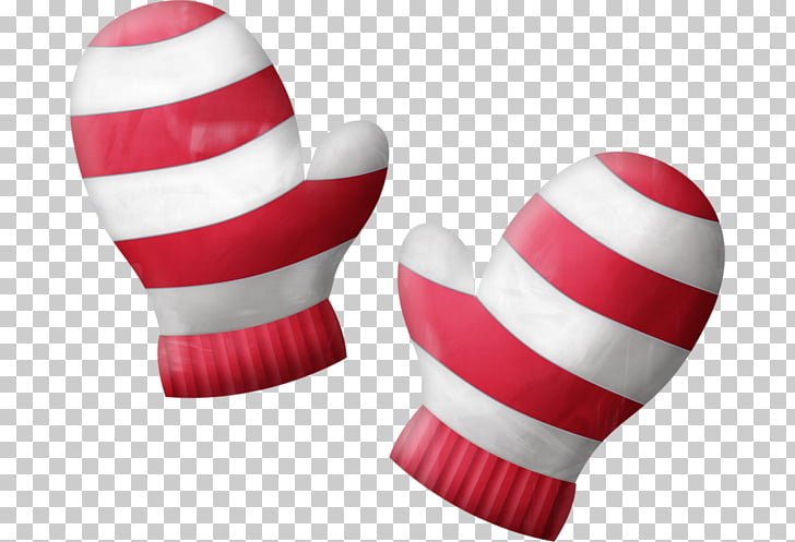 Santa Claus Christmas Glove , A pair of gloves PNG clipart.