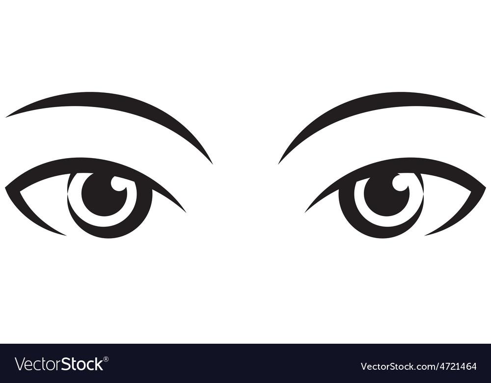 Pair female expressive eyes Icon.
