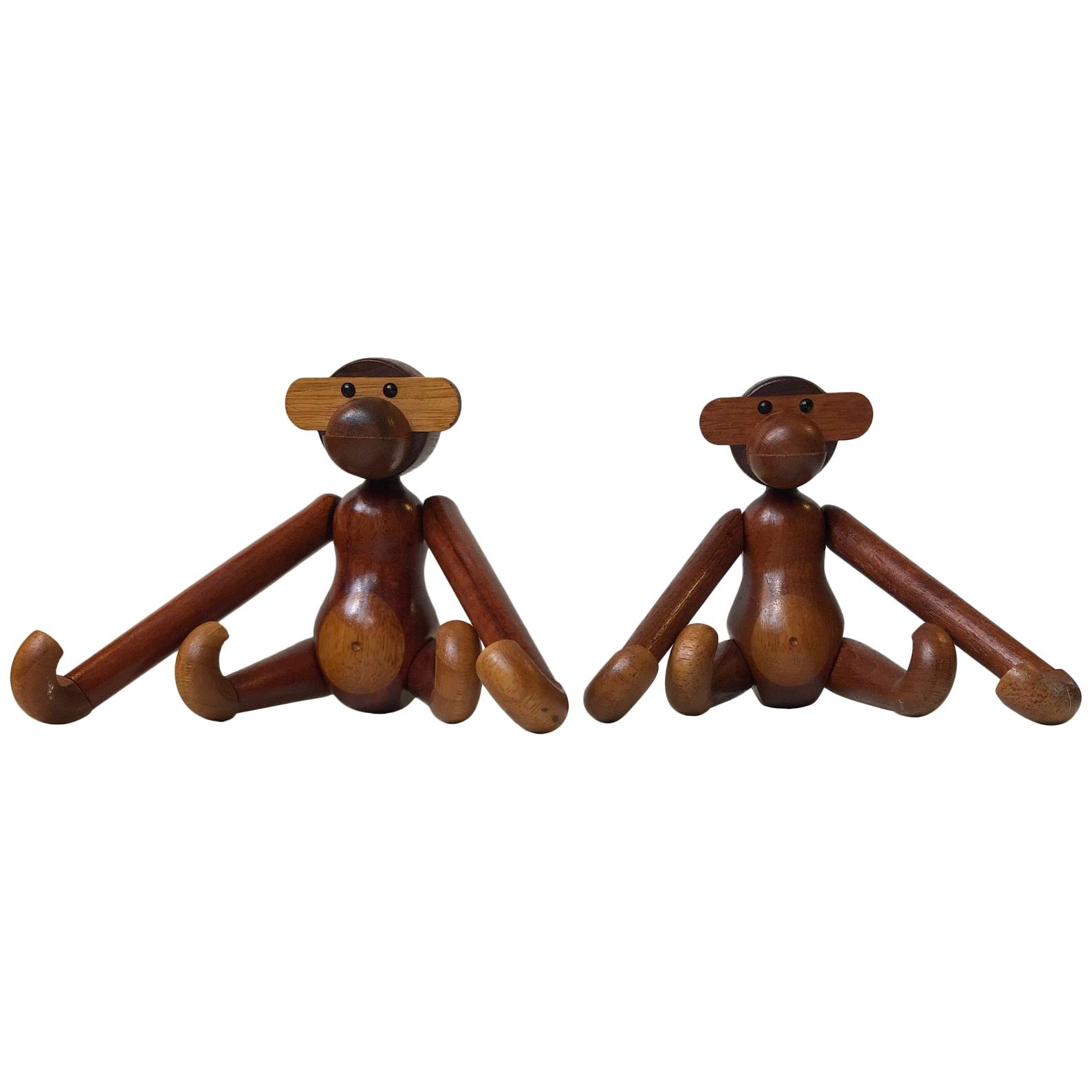 Kay Bojesen, a Pair of Vintage Monkeys with Articulated.