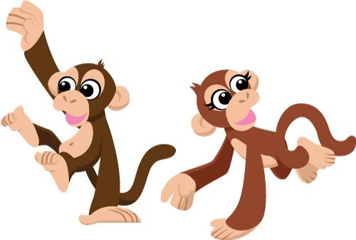 Monkey Pair.