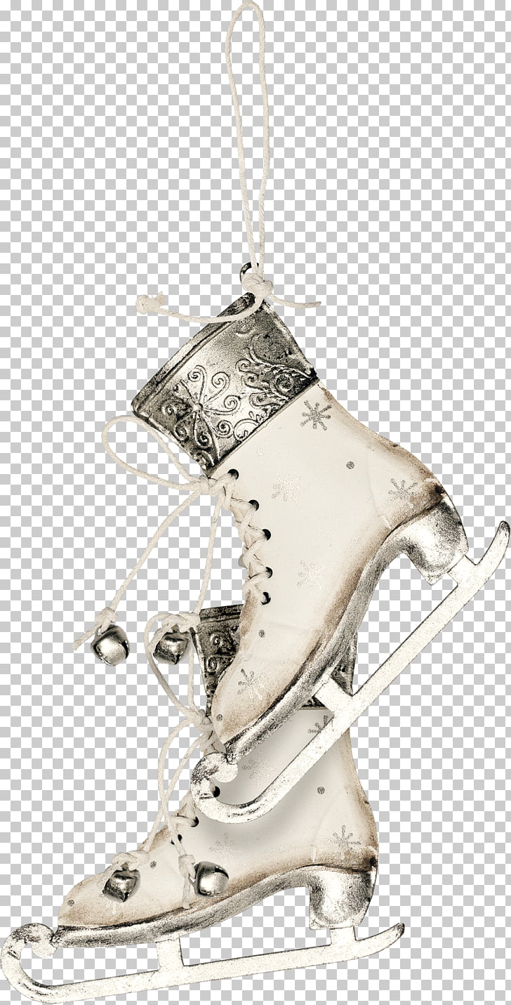 Shoelaces Ice skating, A pair of skates PNG clipart.