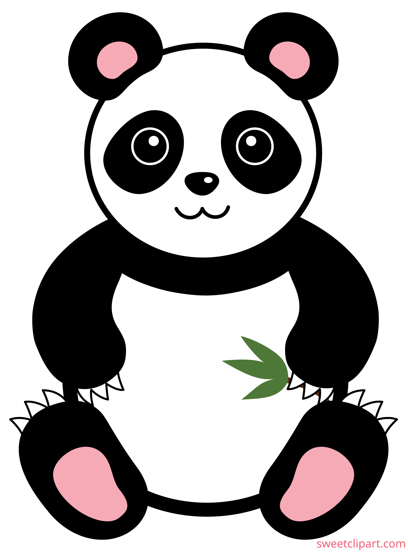 Cute Panda Bear Clip Art.