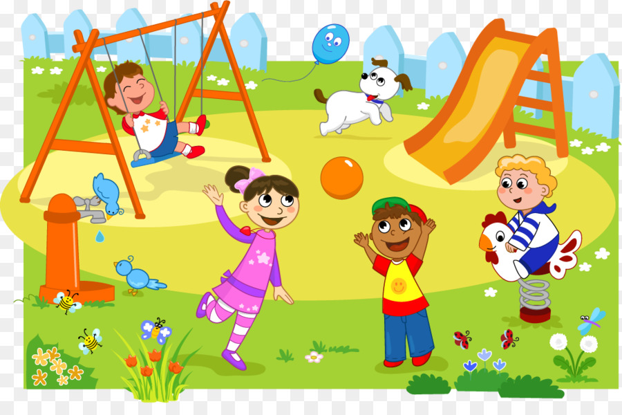 Kids At Park Clipart.