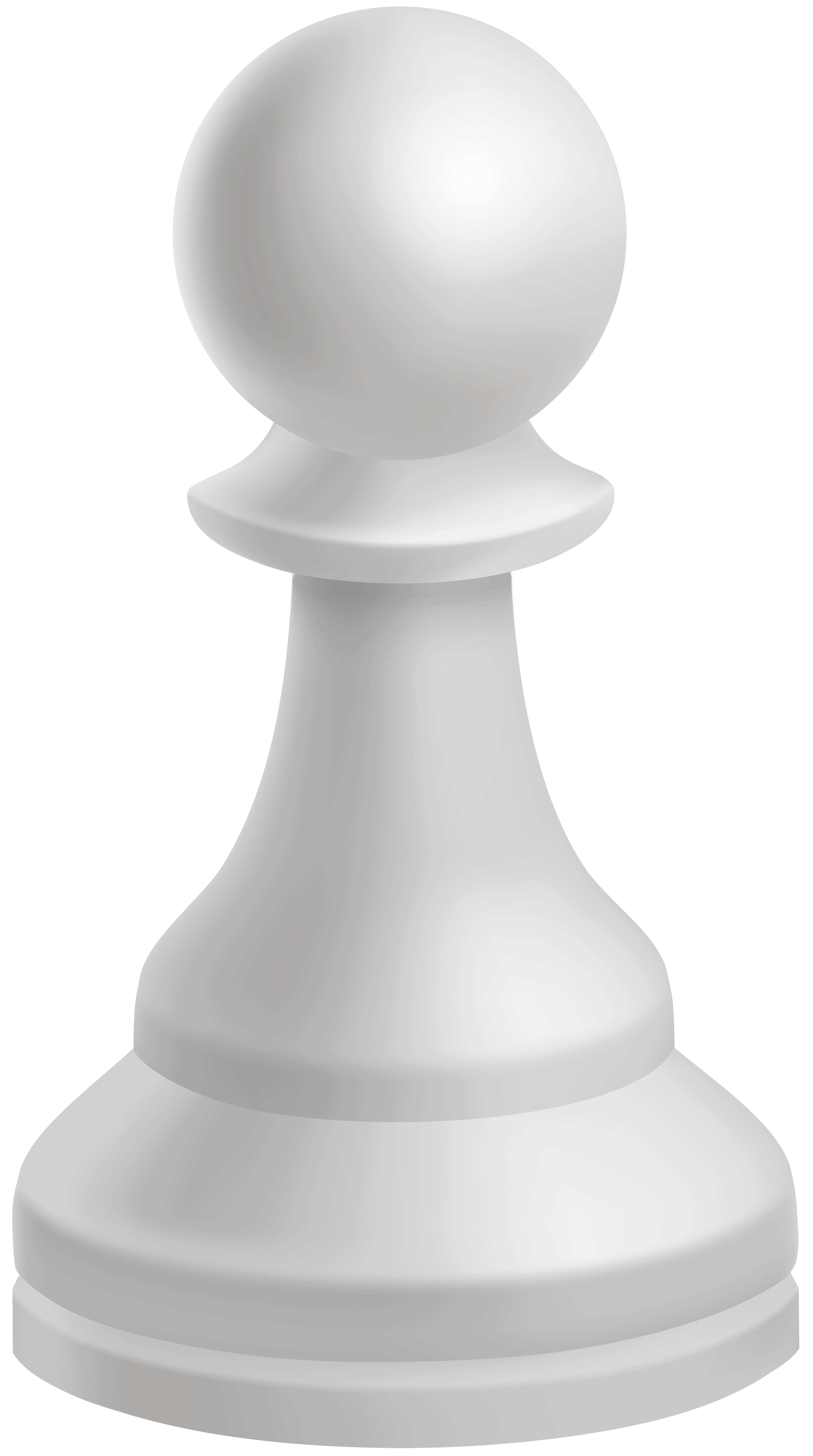 Pawn White Chess Piece PNG Clip Art.