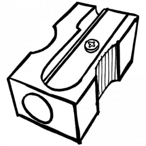 Pencil Sharpener Clipart Black And White.
