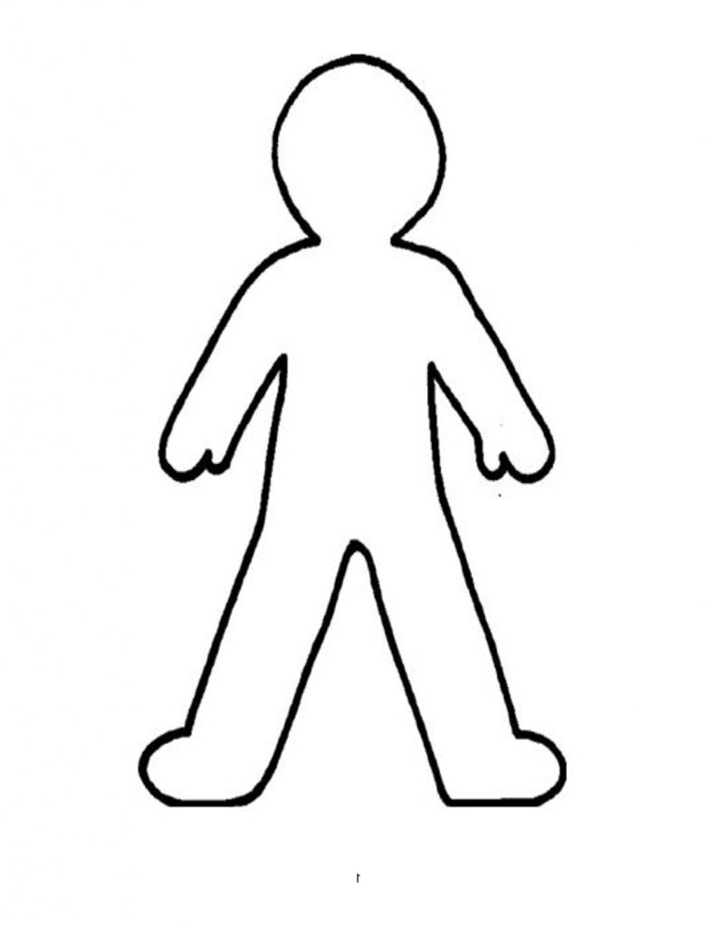 Outline Drawing Of A Person.