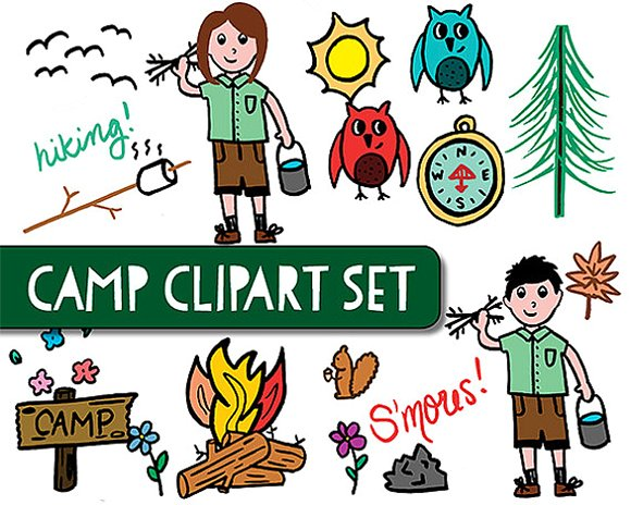 People Camping Clipart.
