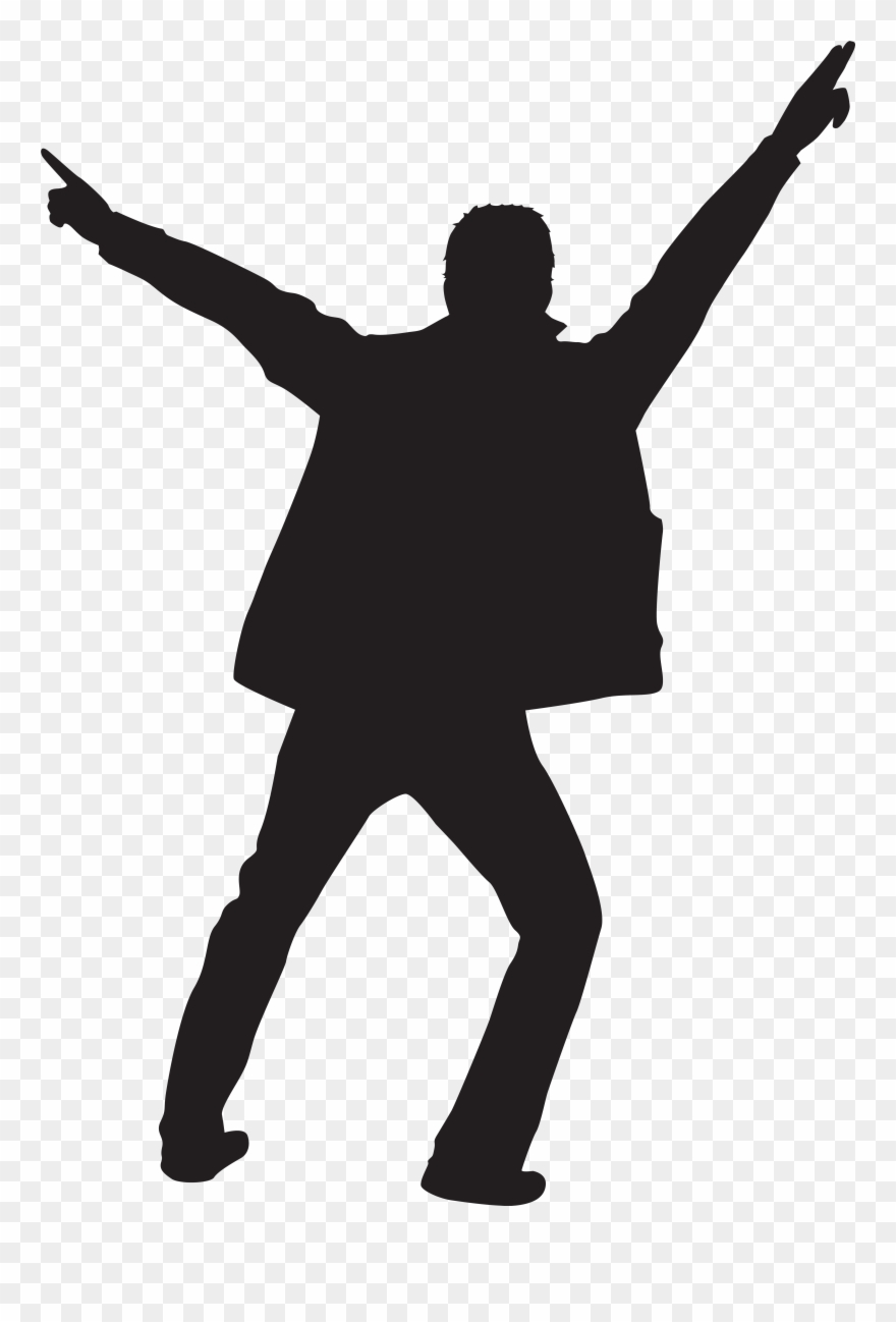Dancing Man Silhouette At Getdrawings Com Free.