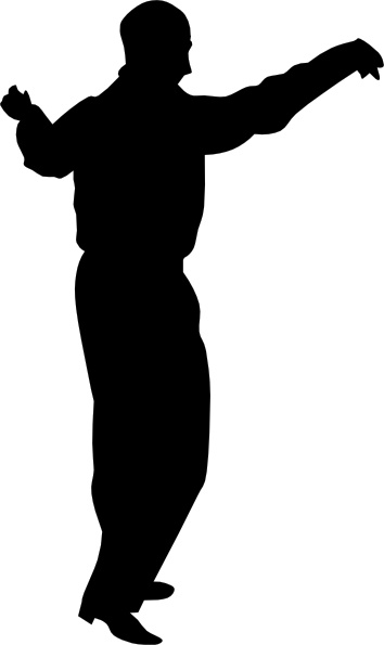 Dancing Guy clip art Free vector in Open office drawing svg.