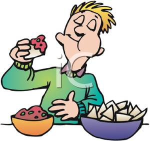 People Eating Clipart.