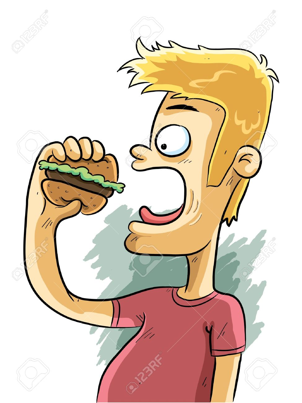 Person eating clipart 1 » Clipart Station.