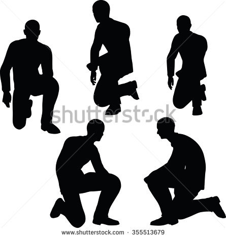 Man Kneeling Stock Images, Royalty.