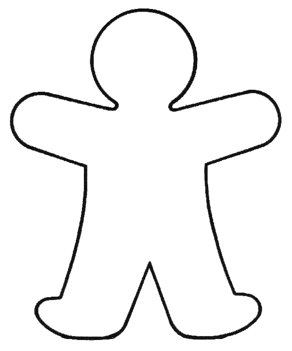 Outline Drawing Of A Person at GetDrawings.com.