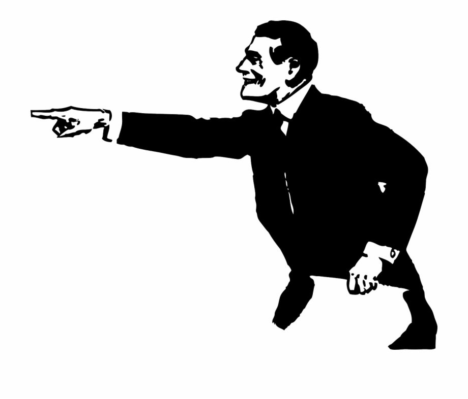 Man Person Pointing Suit Png Image.