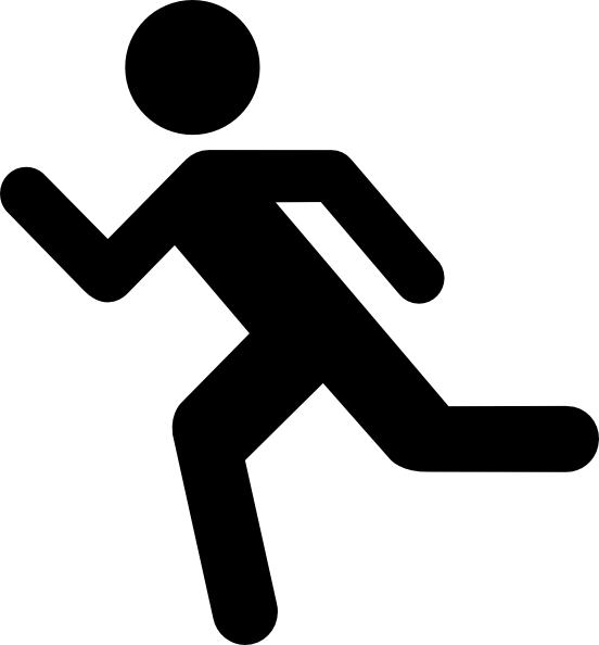 Person running fast clipart 2.