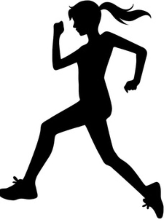 Person running clipart black and white 1 » Clipart Portal.
