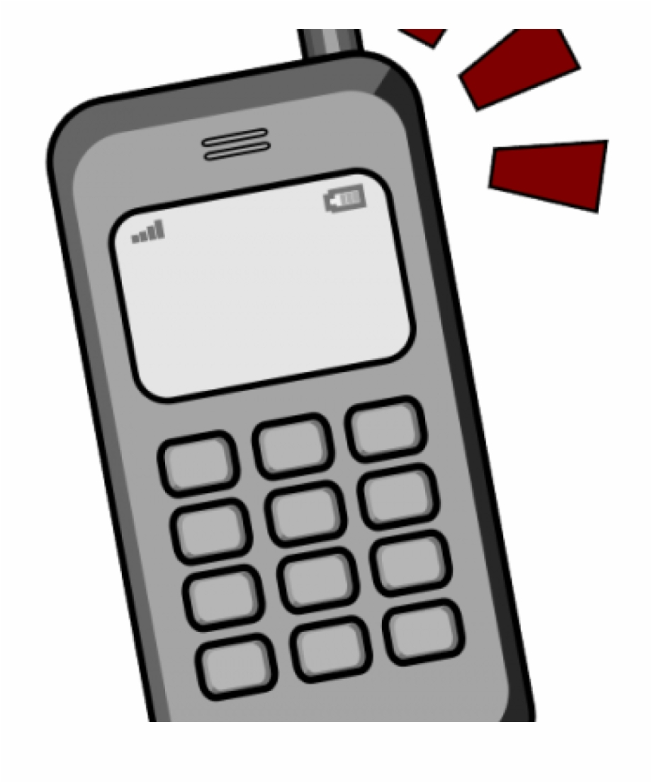 Ringing Cell Phone Clipart.