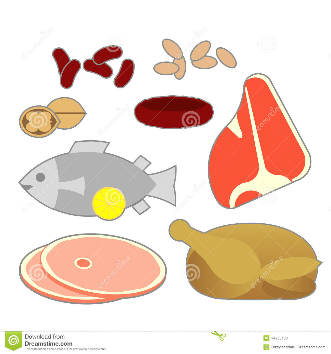 Protein Food Group Clipart.