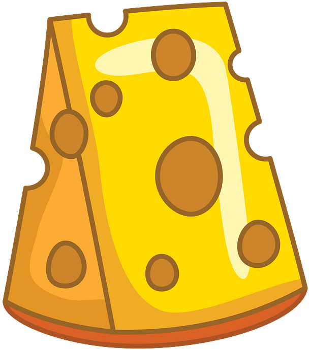 Piece of cheese clipart. Free download..
