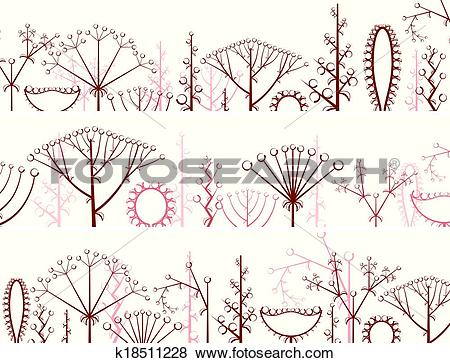 Clip Art of Different types of inflorescence. k18511228.