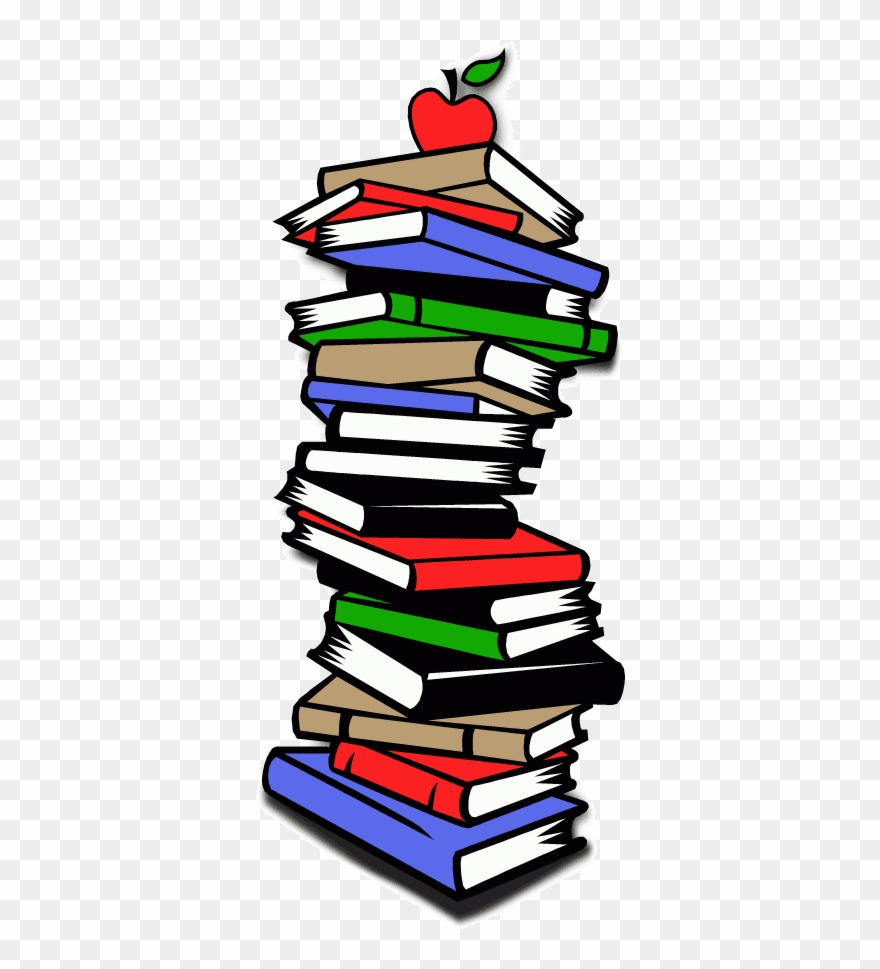 Clipart stack of books pile graphic clip art png.