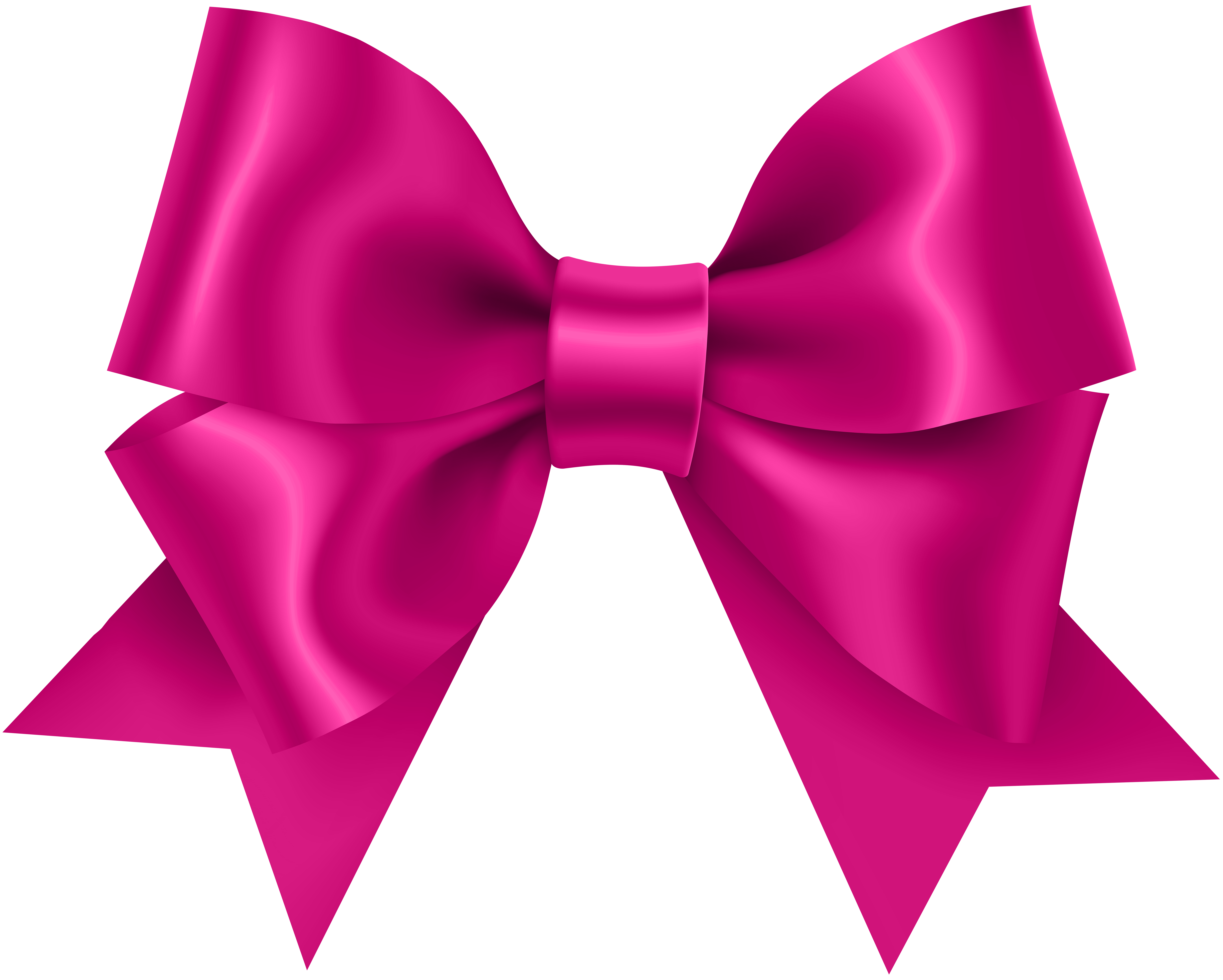 Pink Bow Transparent Clip Art.
