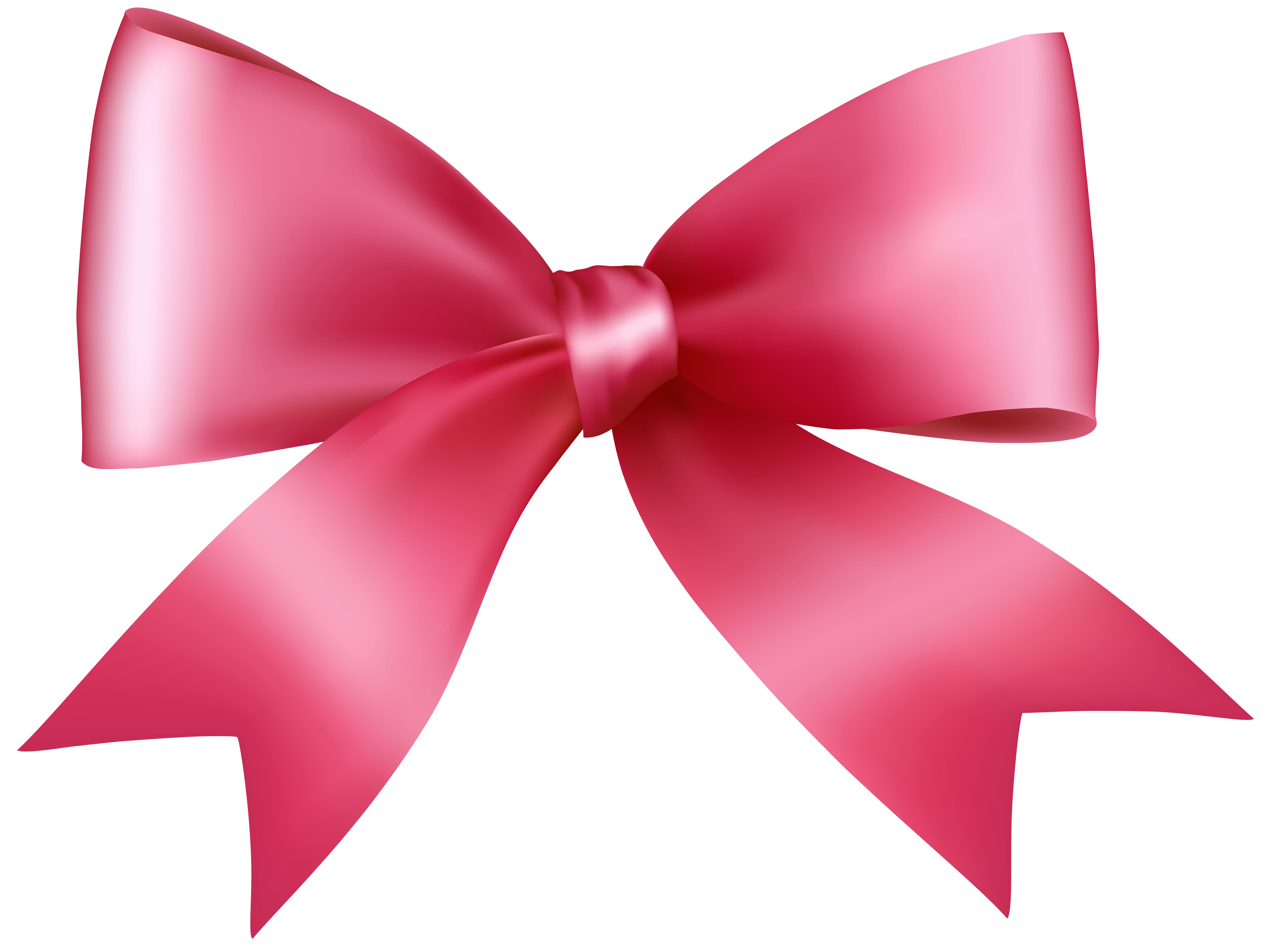 Pink Bow Transparent PNG Clip Art Image.
