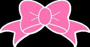 Hot Pink Bow clip art.