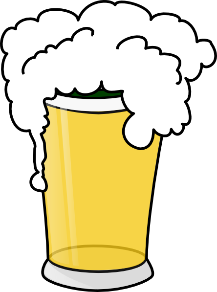 Beer clipart image a pint of beer and a hot dog.