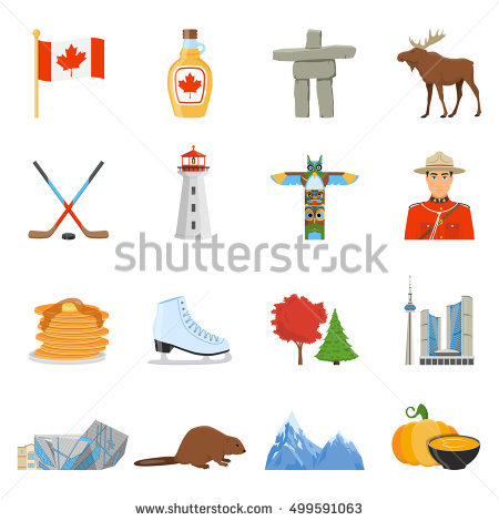 Tourist Symbols Stock Images, Royalty.