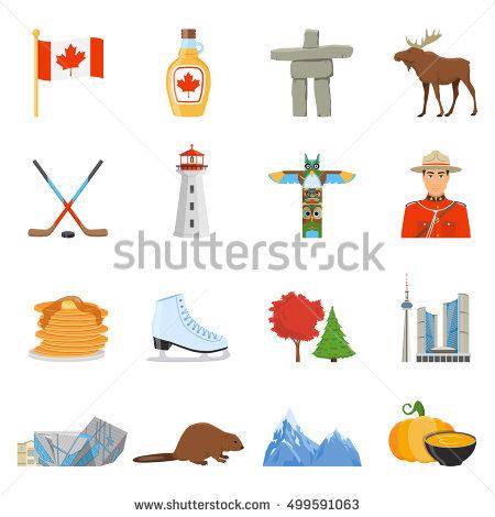 Tourist Symbols Stock Images, Royalty.
